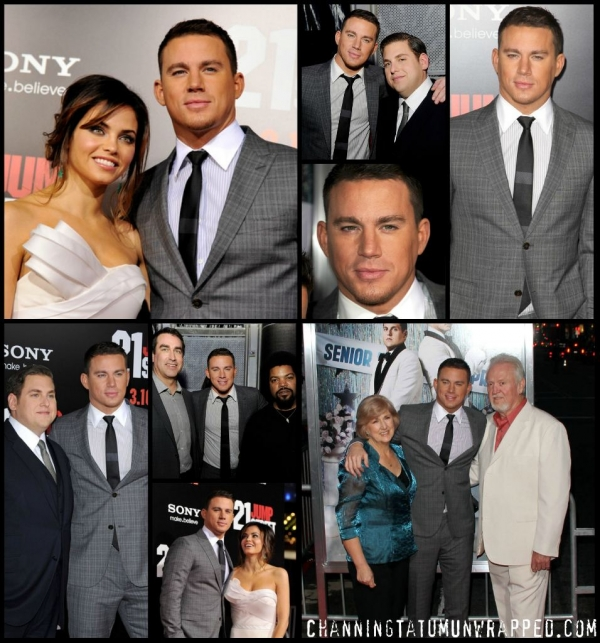 Channing Tatum and Jenna Dewan-Tatum at 21 Jump Street LA Premiere