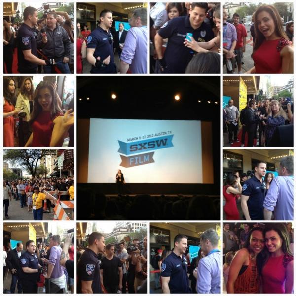 Channing Tatum, Jenna Dewan-Tatum, Jonah Hill, and Dave Franco at 21 Jump Street SXSW Premiere