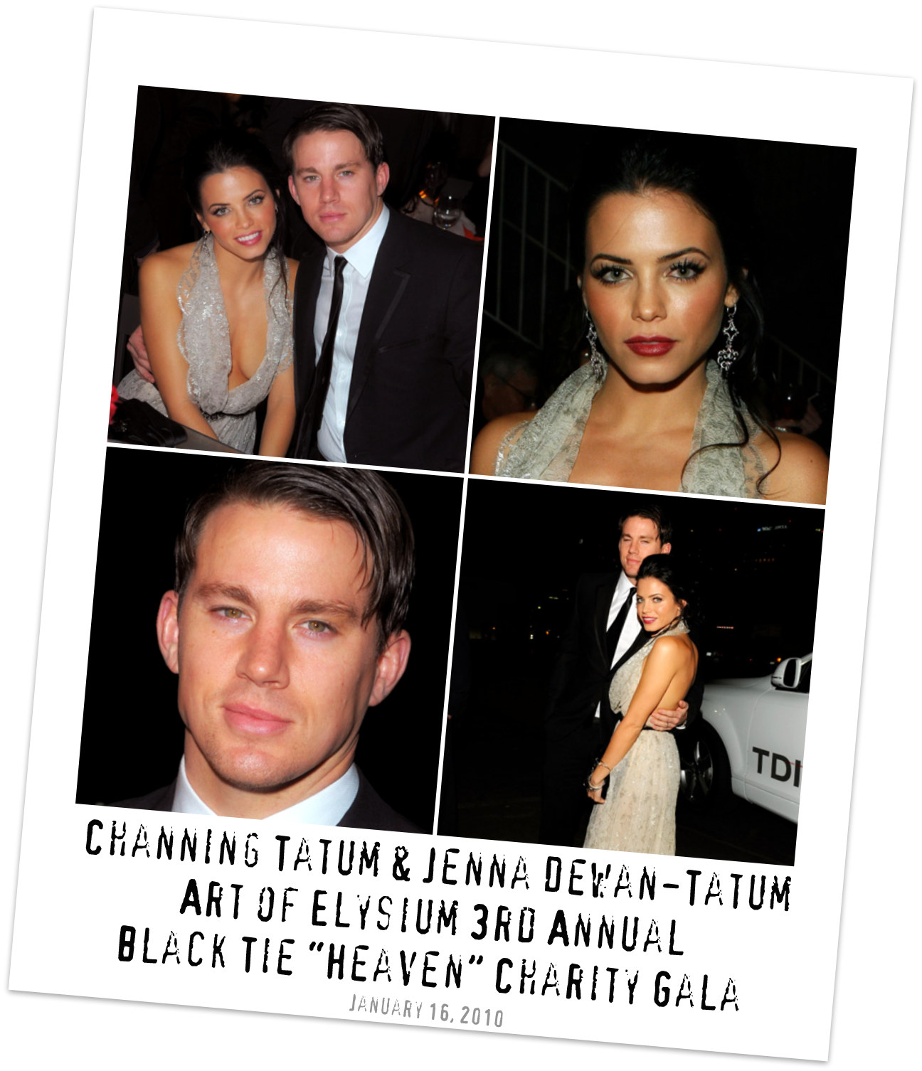 Channing Tatum and Jenna Dewan-Tatum at Art of Elysium Charity Gala