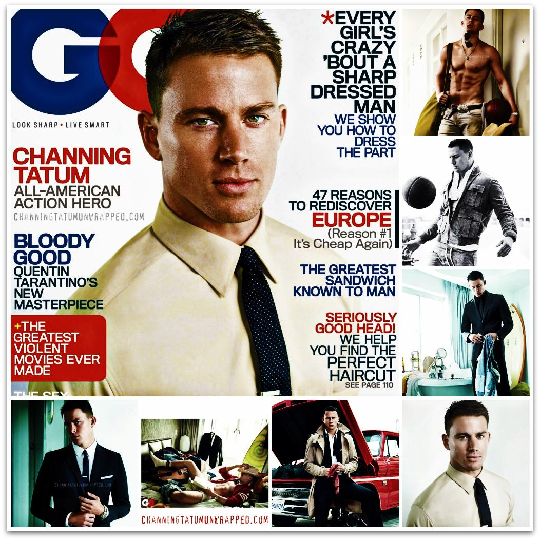 Channing Tatum in August 2009 GQ Magazine