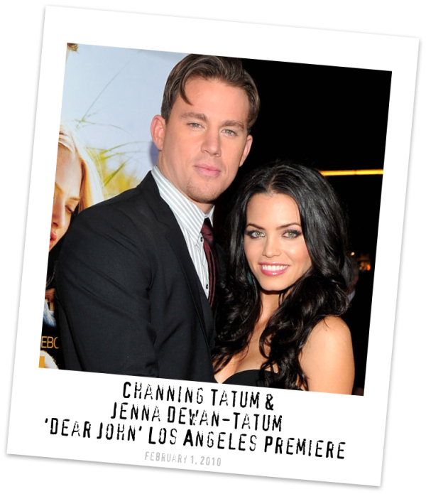 Channing Tatum and Jenna Dewan-Tatum on the 'Dear John' Press Tour