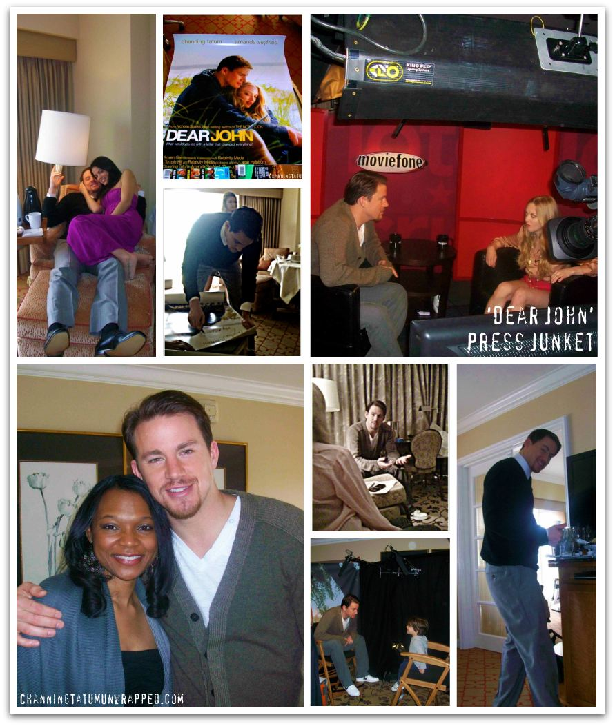 Channing Tatum & Jenna Dewan-Tatum Behind-the-Scenes at 'Dear John' Press Junket