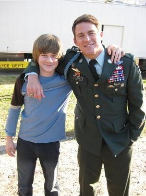 Channing Tatum and Luke Benward on the 'Dear John' Set