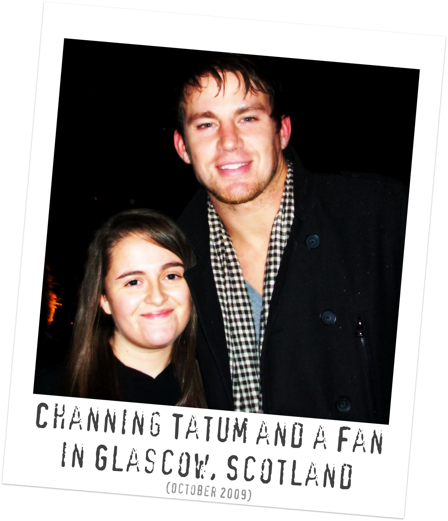 Channing Tatum with Fans in Scotland