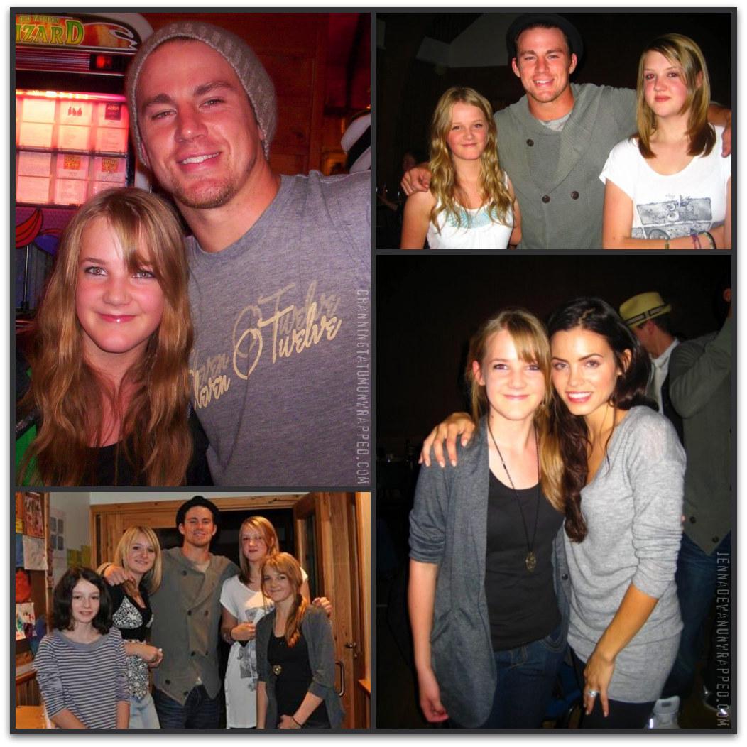 Channing Tatum and Jenna Dewan-Tatum with Fans in Achiltibuie, Scotland