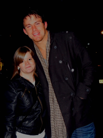 Channing Tatum with Fan @xweelaurax in Scotland