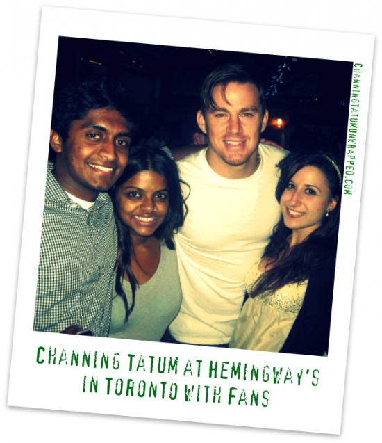 @ChanningTatum with Fans at Hemingway's in Toronto (AUG 21, 2010)