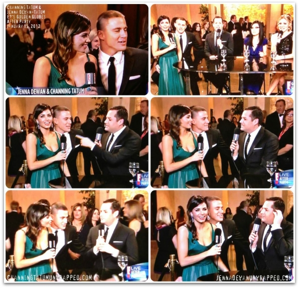 Channing Tatum and Jenna Dewan-Tatum: E! After Party Interview at the Golden Globes