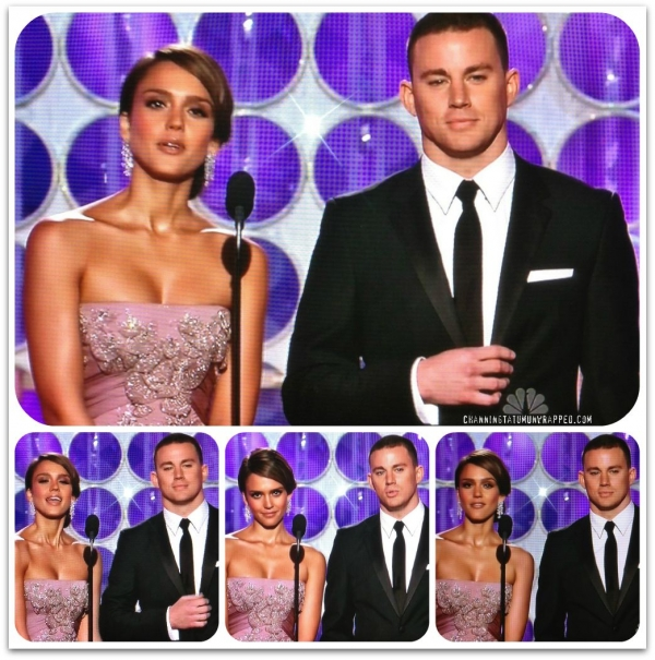 Channing Tatum and Jessica Alba Presenting at the Golden Globes