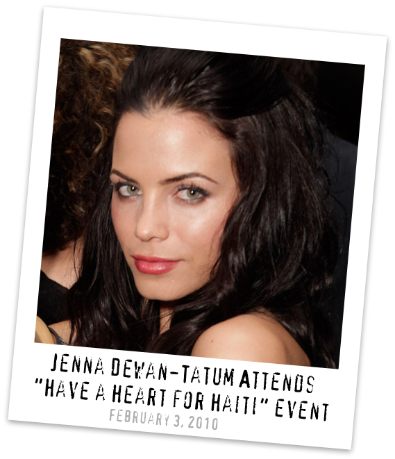 "Jenna Dewan-Tatum Supports ""Have a Heart for Haiti"""