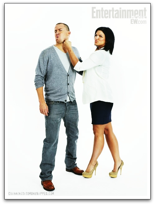 Channing Tatum and Gina Carano at Comic-Con for 'Haywire' - Entertainment Weekly Portrait (July 22, 2011)