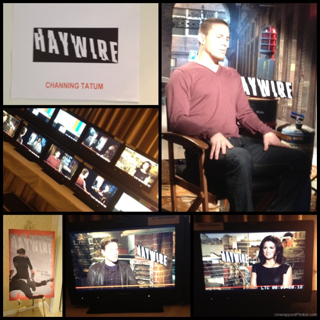 Behind-The-Scenes with Channing Tatum at the 'Haywire' Press Junket