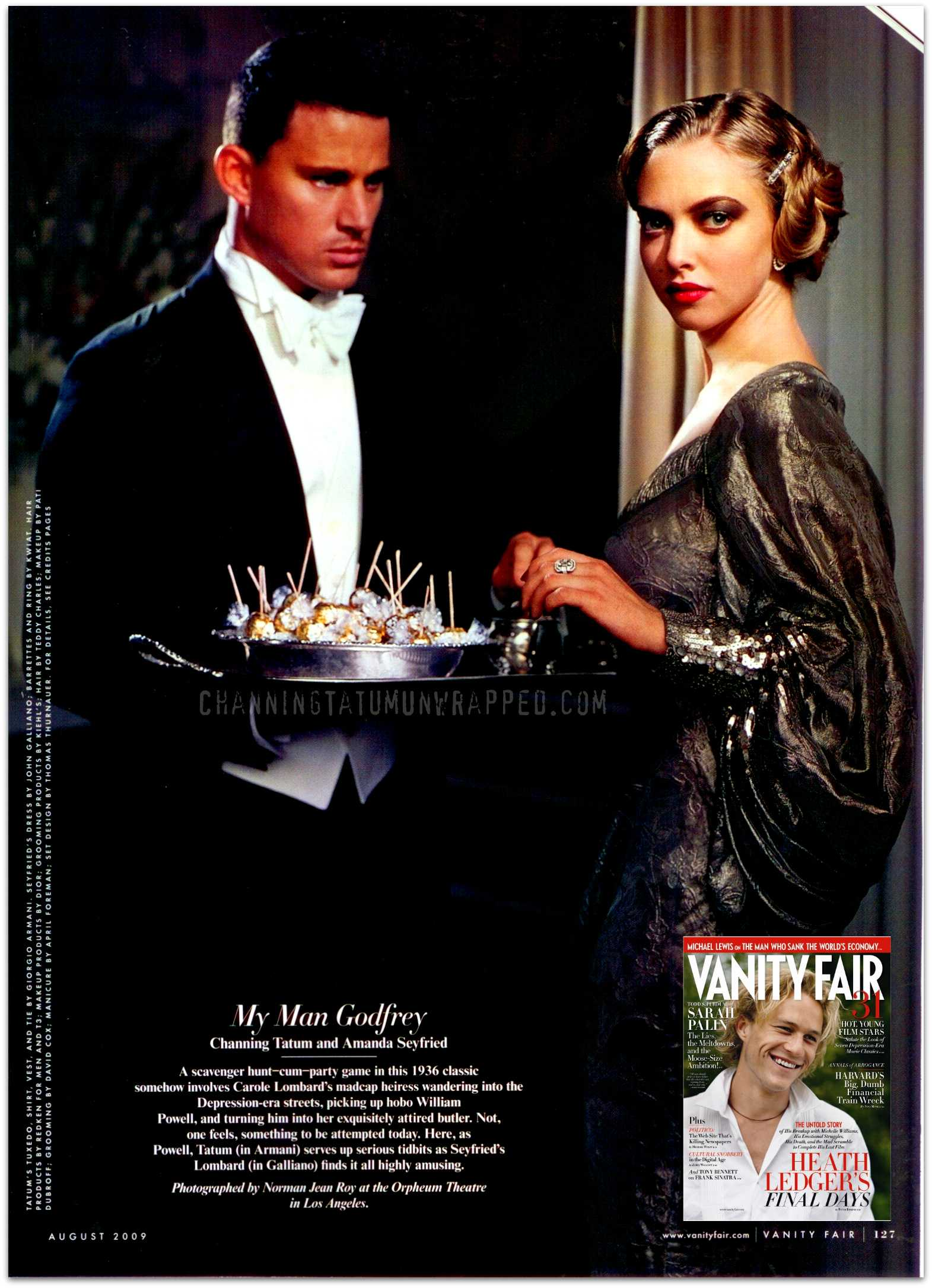 CTU EXCLUSIVE: Channing Tatum and 'Dear John' Co-Star Amanda Seyfried Featured in August 2009 Vanity Fair