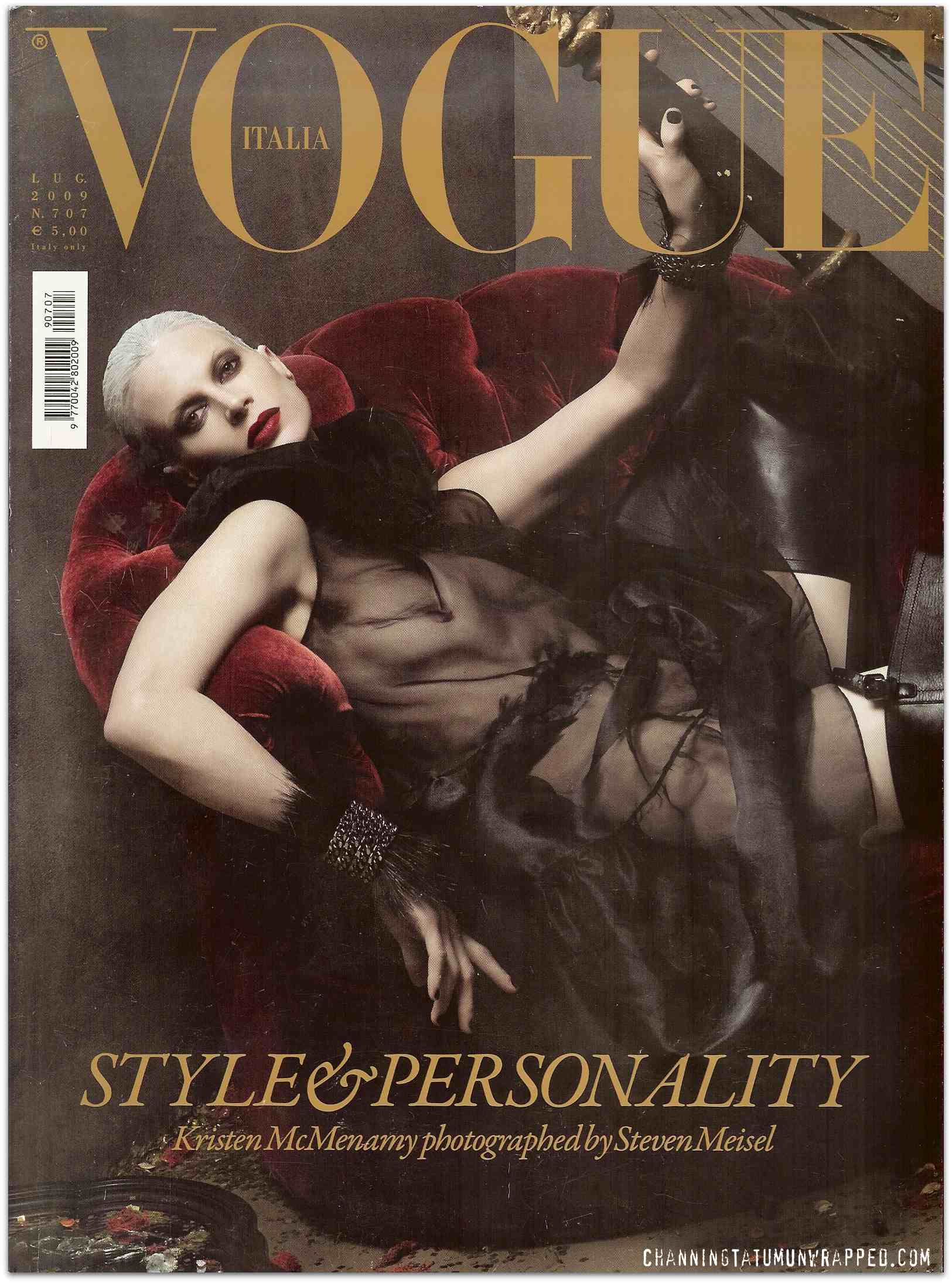 Channing Tatum Featured in July 2009 Vogue Italia (Cover)