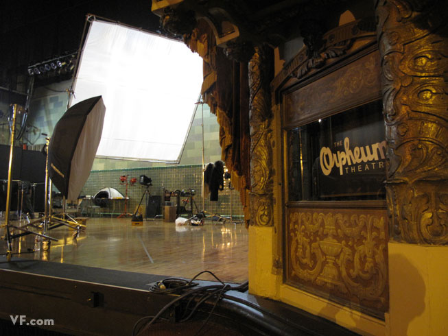Orpheum Theatre in Los Angeles: Behind-the-Scenes at Channing Tatum's Photoshoot for August 2009 Vanity Fair Photo Shoot