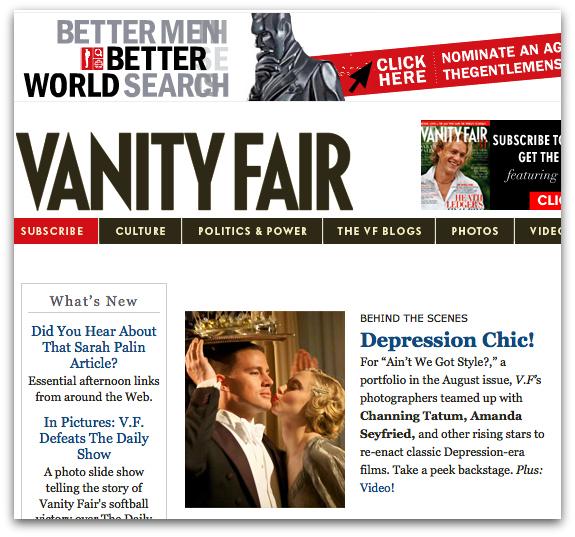 Channing Tatum and 'Dear John' Co-Star Amanda Seyfried Featured on VanityFair.com