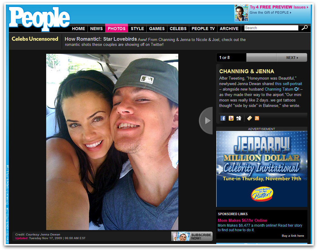 Channing Tatum and Jenna Dewan-Tatum Featured in People's Celebs Uncensored
