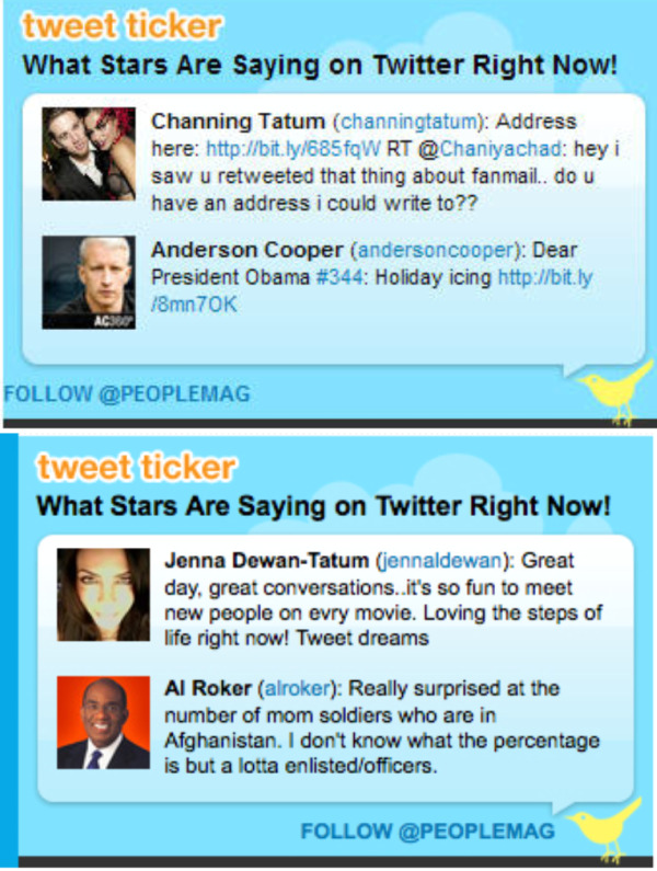 Channing Tatum and Jenna Dewan-Tatum's Tweets Featured on People.com