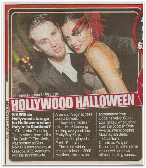 Channing Tatum and Jenna Dewan Featured in The Daily Record Halloween 2009