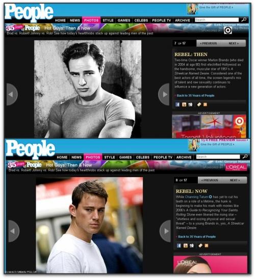 People Magazine Picks Channing Tatum as the Rebel Hot Guy vs. Marlon Brando