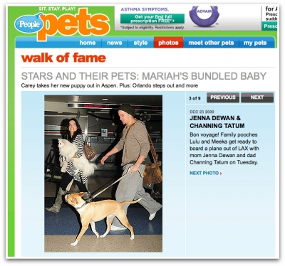 Jenna Dewan-Tatum and Channing Tatum Featured in People Pets with Meeka & Lulu Bella
