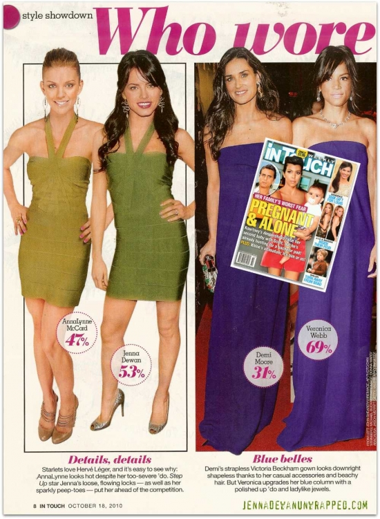 @JennalDewan Featured in @InTouchWeekly's Who Wore It Best (OCT 18, 2010)