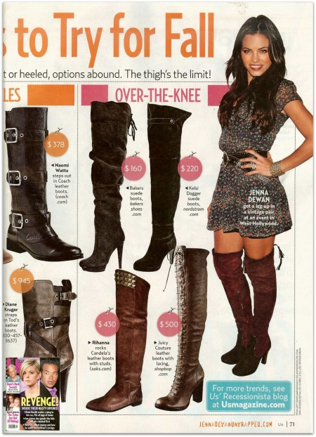 Jenna Dewan in October 19, 2009 Us Weekly