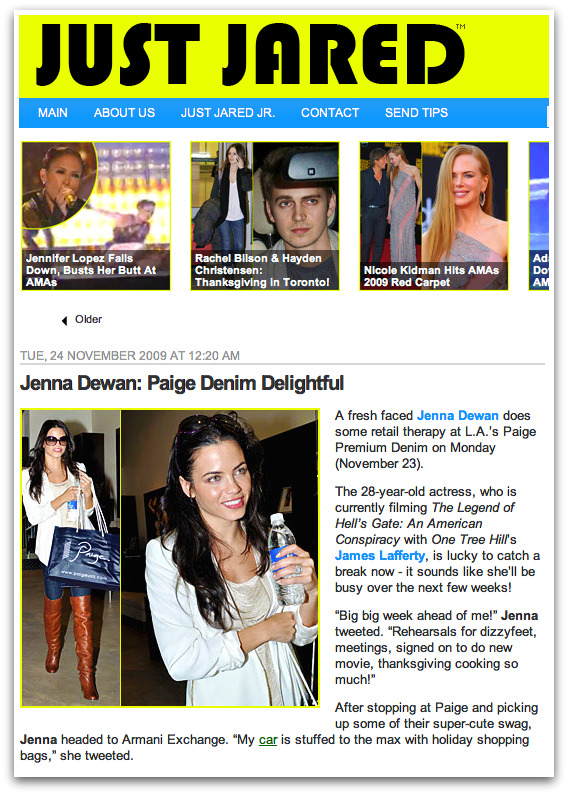 Jenna Dewan-Tatum Shopping at Paige Premium Denim on JustJared.com