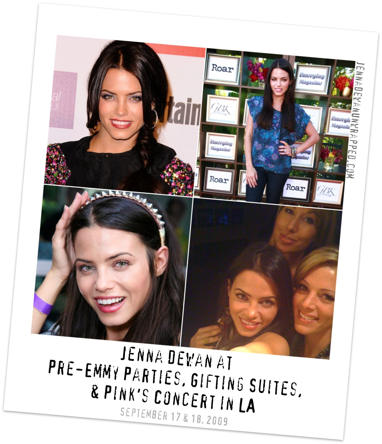 Jenna Dewan at Pre-Emmy Events & Pink Concert