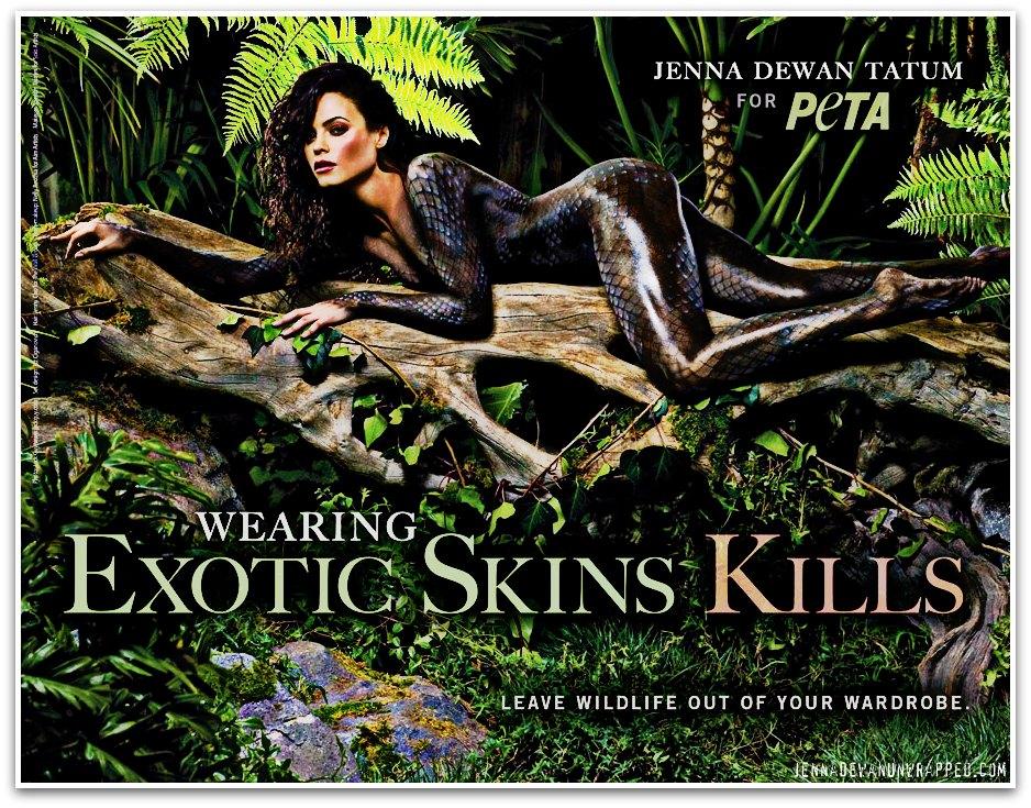 Jenna Dewan-Tatum's PETA Campaign
