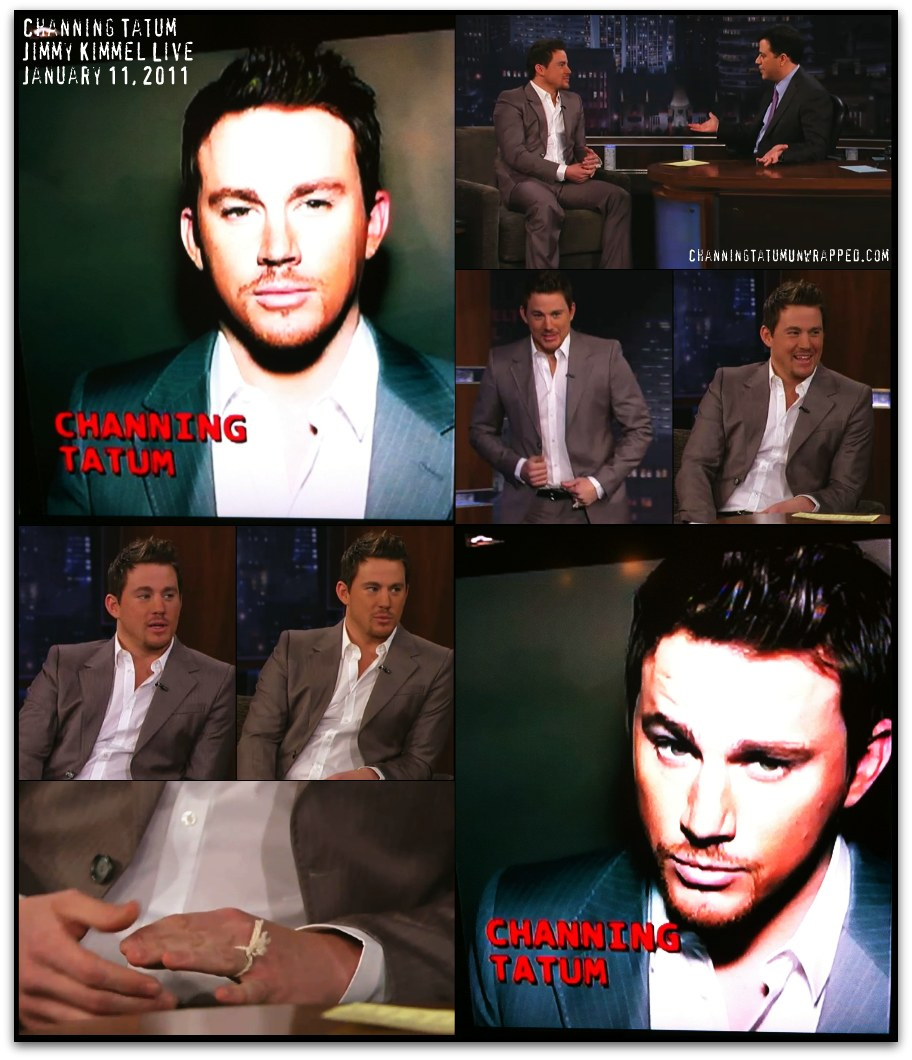 Channing Tatum Appears on Jimmy Kimmel Live to Promote 'The Dilemma' (January 11, 2011) by Channing Tatum Unwrapped