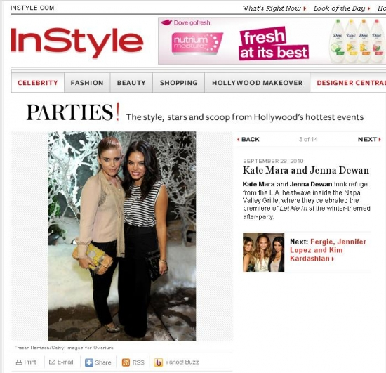 @JennalDewan & Kate Mara Featured on Instyle.com at 'Let Me In' Premiere