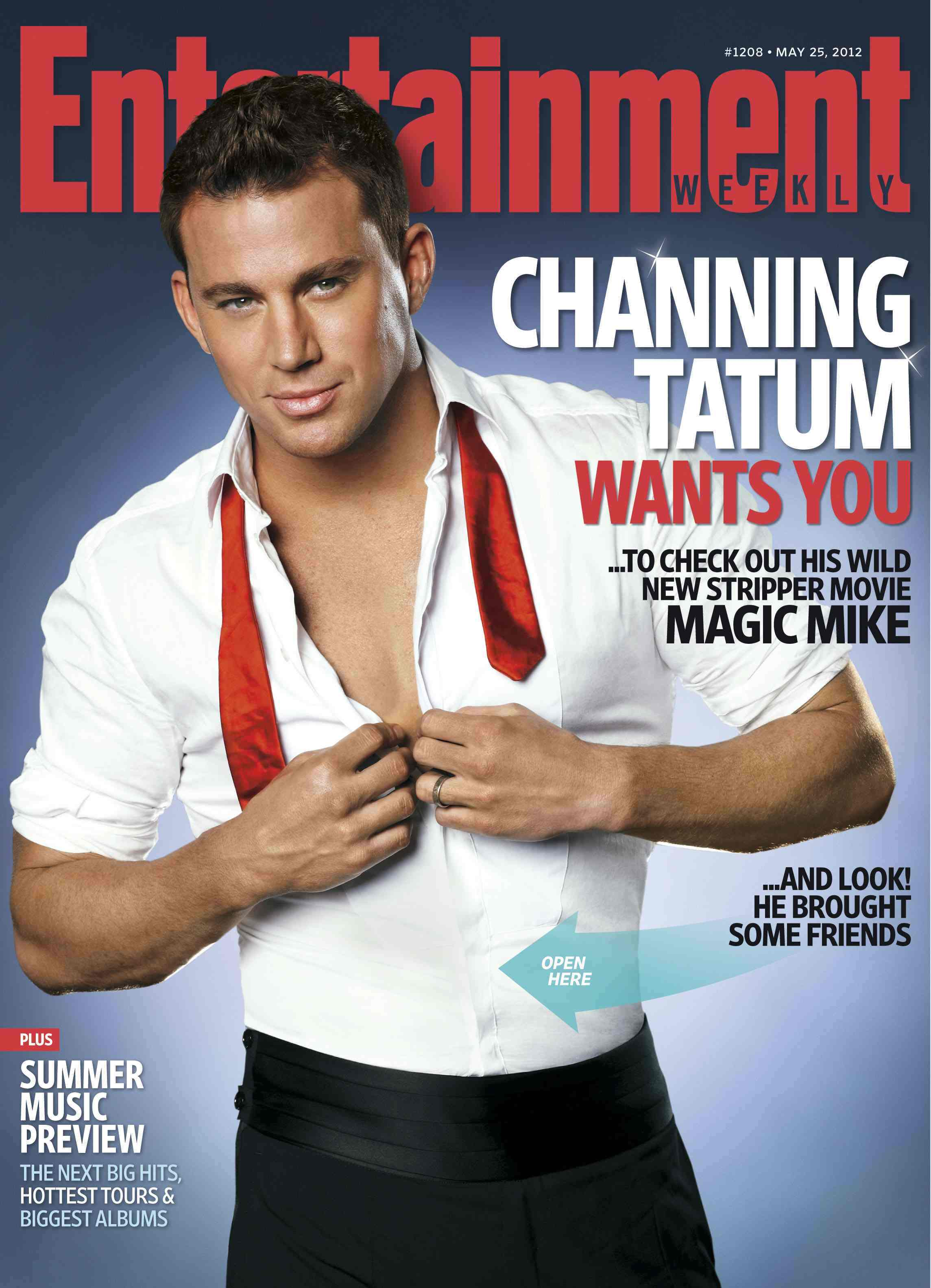 Channing Tatum and Magic Mike Cover Entertainment Weekly