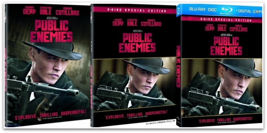 'Public Enemies' DVD and Bluray