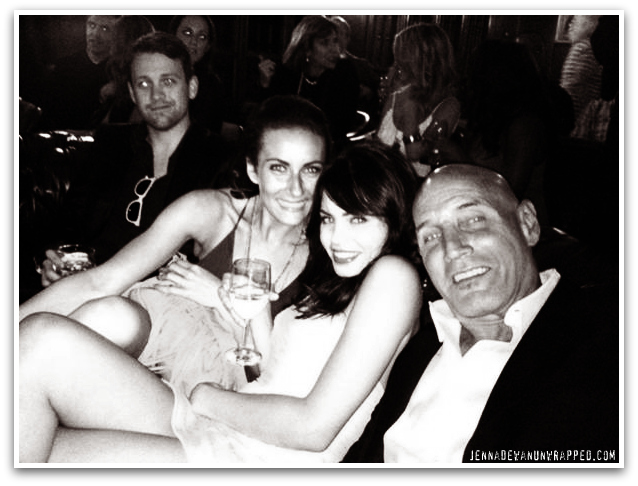 "Jenna Dewan-Tatum Screens ""The Playboy Club"" with Hugh Hefner at the Mansion"