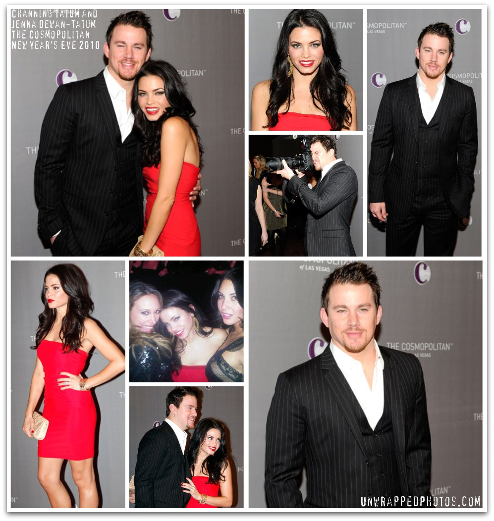 Channing Tatum and Jenna Dewan-Tatum Ring in the New Year at The Cosmopolitan