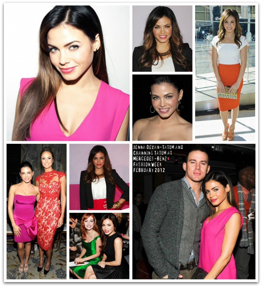 Jenna Dewan-Tatum and Channing Tatum at Mercedes-Benz Fashion Week