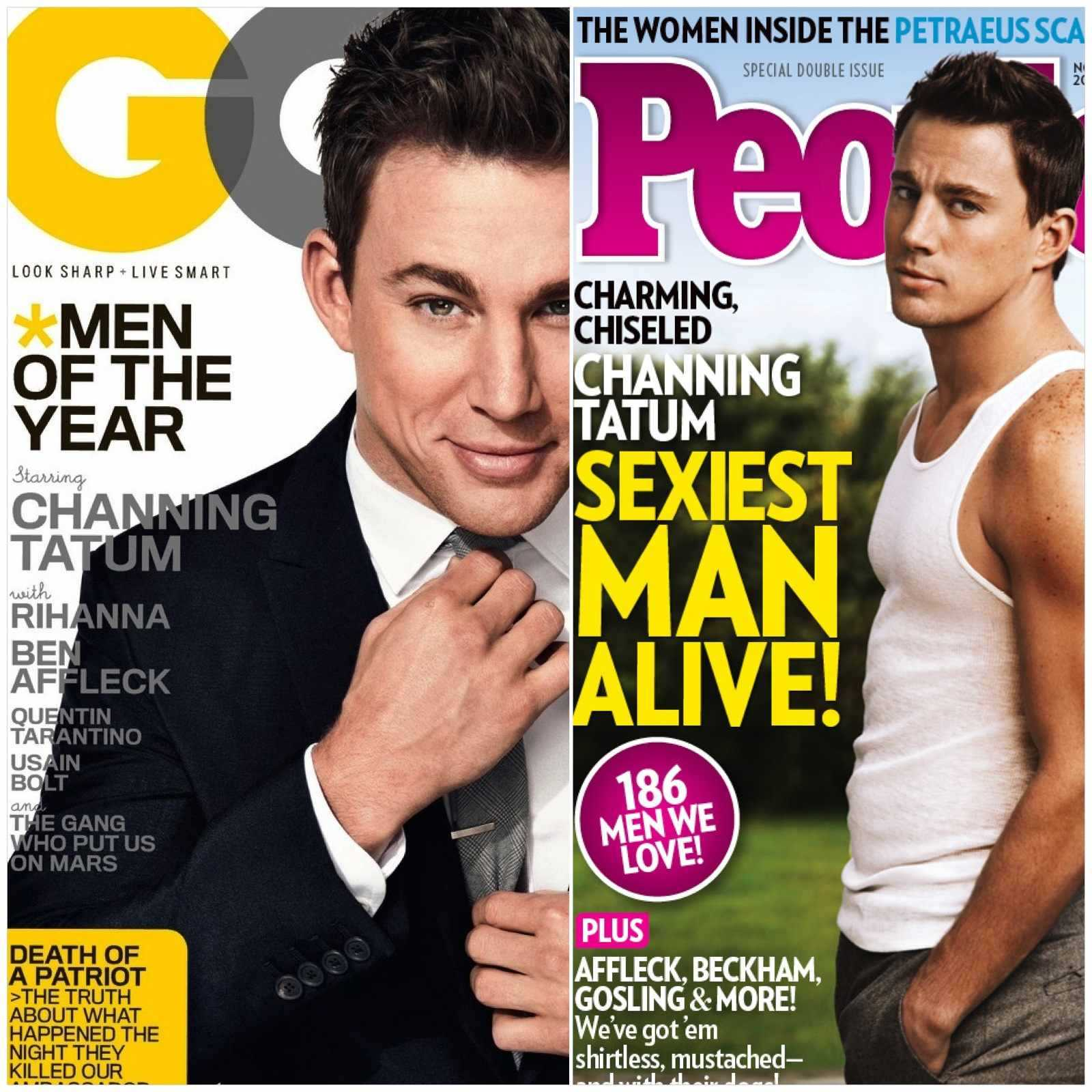 Channing Tatum Dubbed GQ's Man of the Year & People Magazine's Sexiest Man Alive!!!