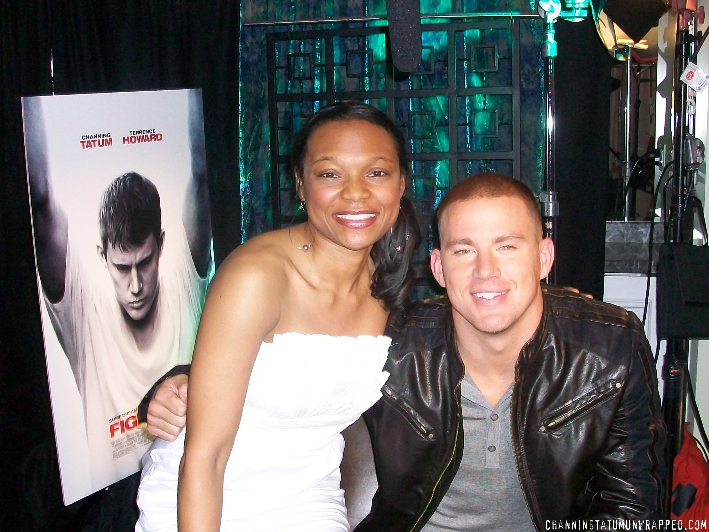 CTU Webmaster Q and Channing Tatum at 'Fighting' Press Junket