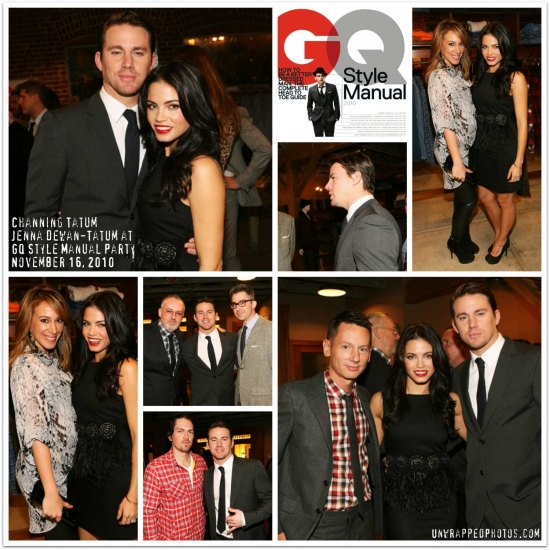 @ChanningTatum @JennalDewan @HaylieK at @gqdotcom Style Manual Party (NOV 16, 2010)