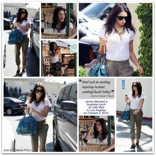 @JennalDewan at Business Lunch at Cafe Med 10-02-2010