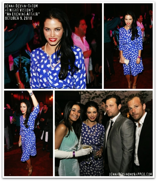 "@JennalDewan with Emmanuelle Chriqui at Night Vision's ""An Evening Affair"" (OCT 9, 2010)"