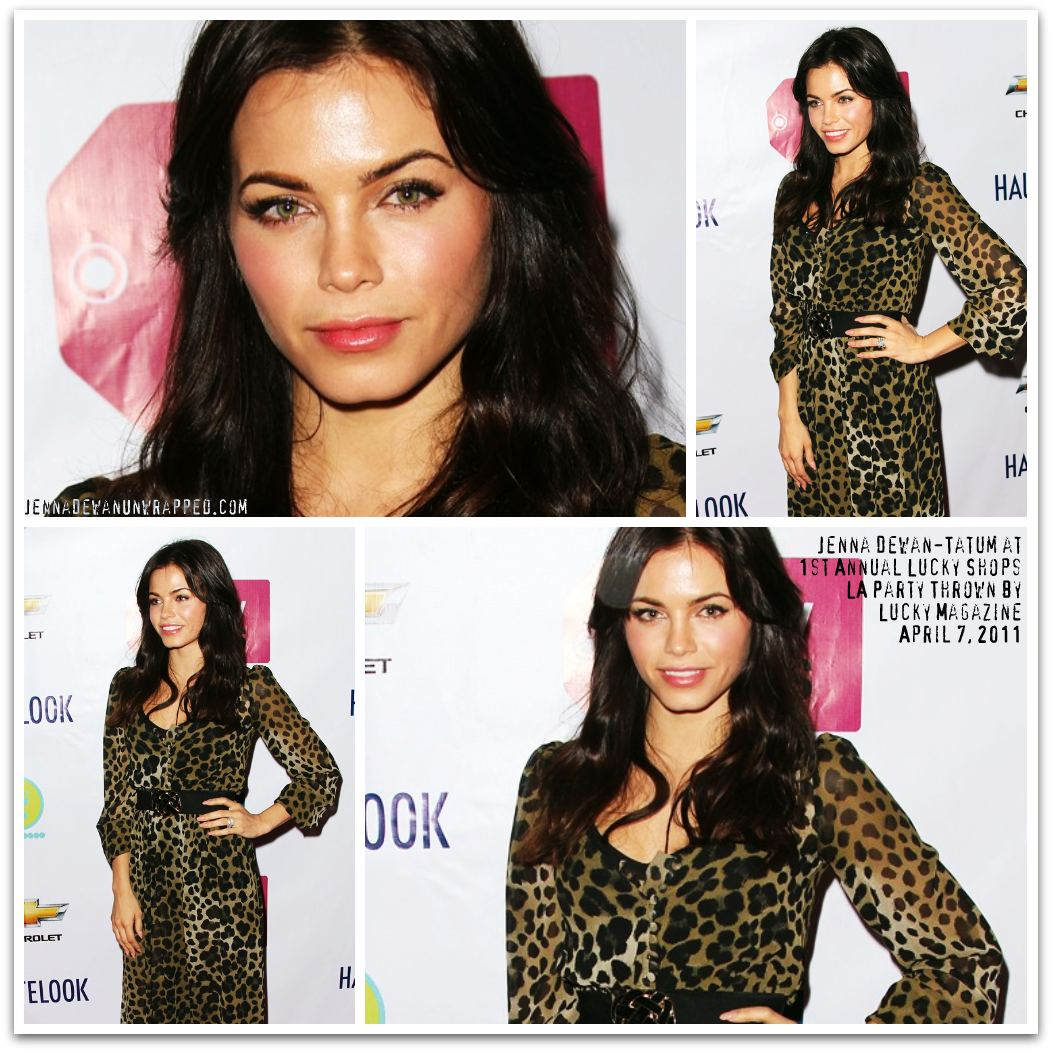 Jenna Dewan-Tatum…From LAX with Channing Tatum to Lucky Magazine's Soiree
