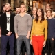 Channing Tatum Filming SNL Promo with Kristen Wiig and Bon Iver