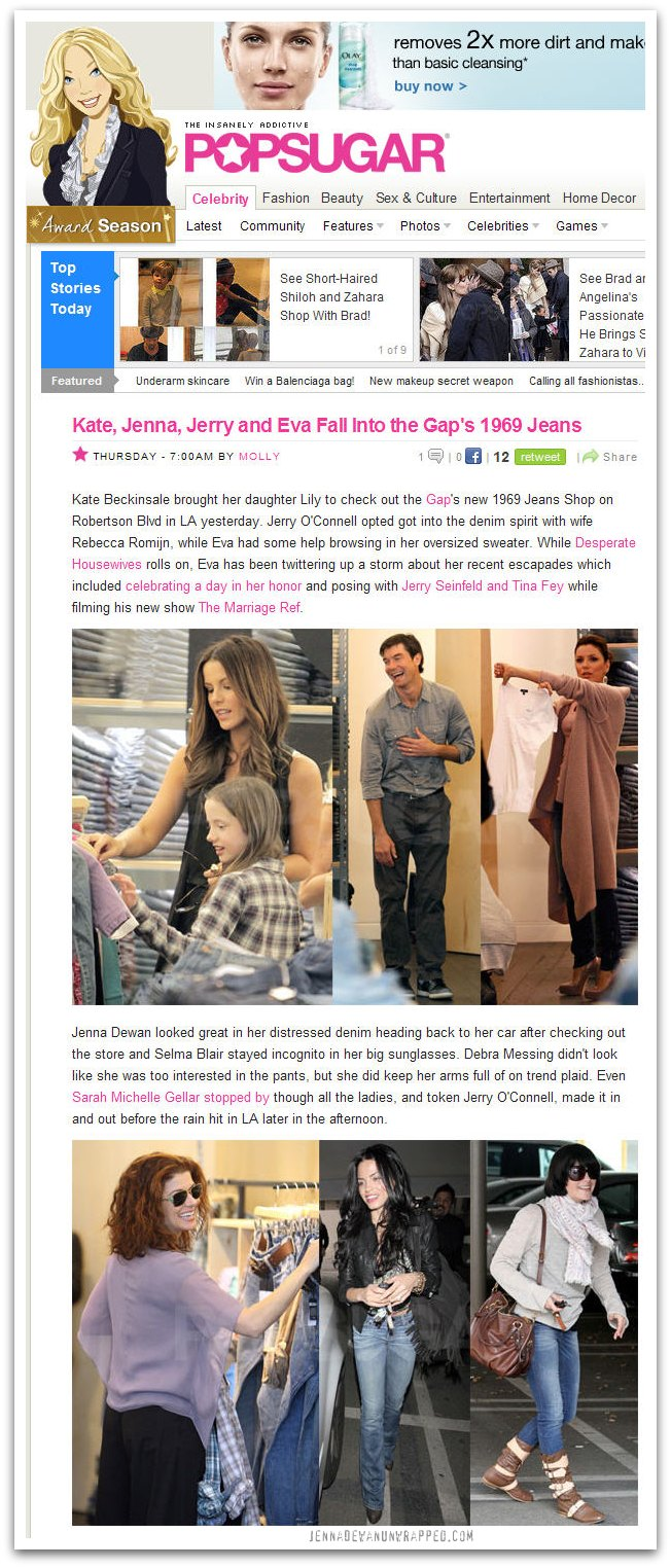 Jenna Dewan-Tatum Shopping at The Gap on PopSugar.com