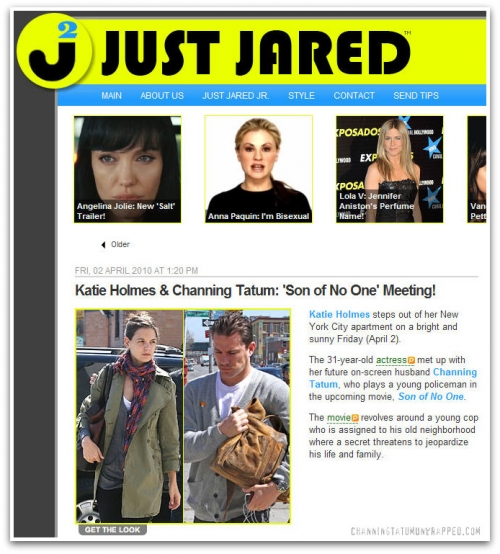 Channing Tatum in New York for 'Son of No One' (JustJared.com)