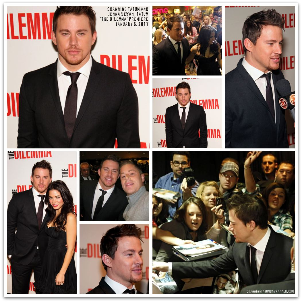 Channing Tatum and Jenna Dewan-Tatum at 'The Dilemma' Premiere