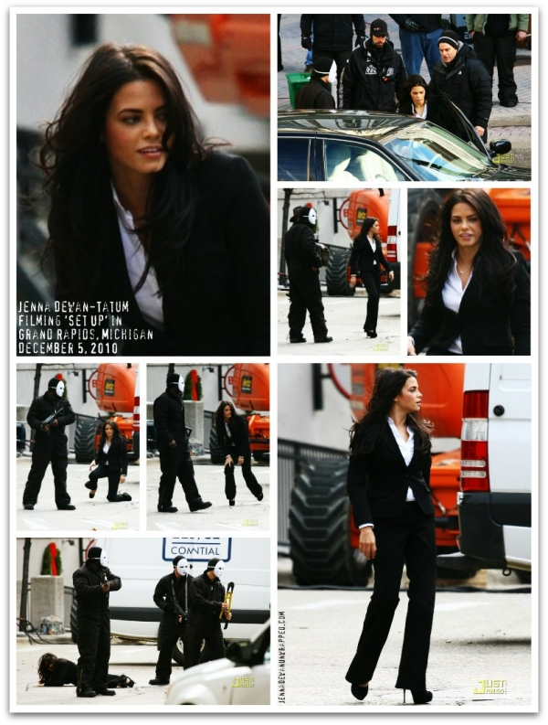 @JennalDewan Shooting Scenes for 'Set Up' via @JustJared (DEC 5, 2010)