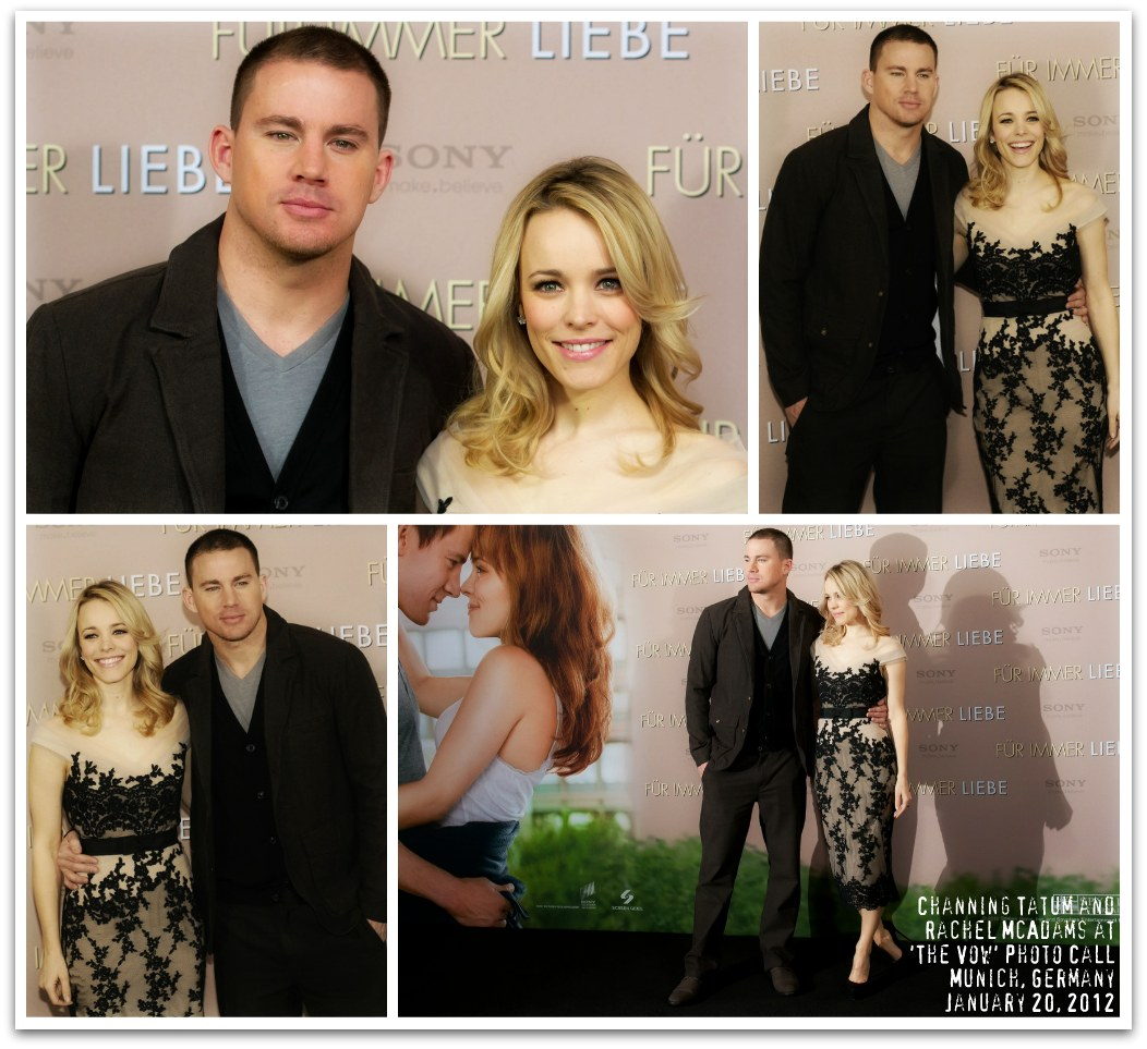 Channing Tatum and Rachel McAdams on 'The Vow' International Press Tour