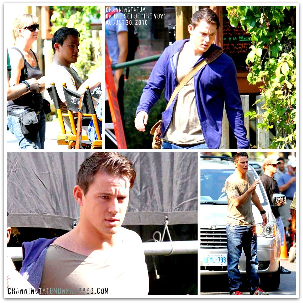 Channing Tatum on the Toronto Set of 'The Vow'